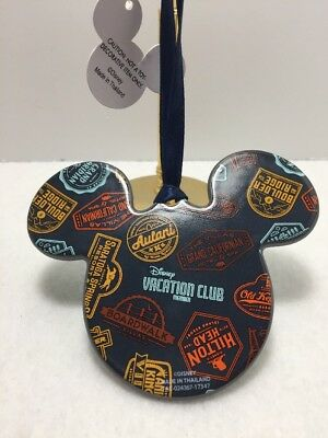 Disney Parks Mickey Mouse Icon Ceramic Ornament Disney Vacation Club NEW