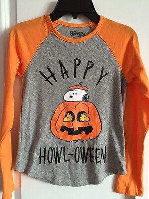 NWT Happy Halloween Peanut T-shirt Raglan Tee Top Heather Grey 7-8 Years](Heathers Halloween Costume)