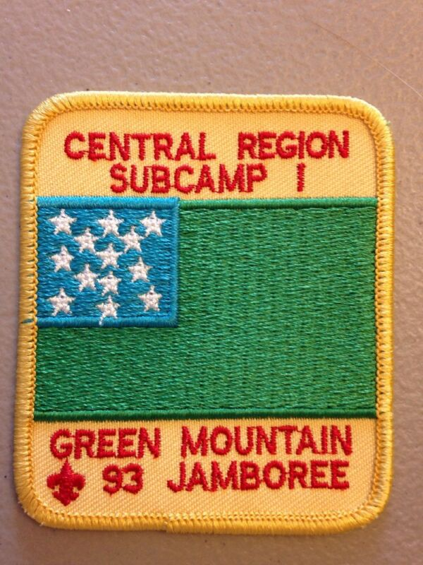 BSA: Central Region - 1993 National Jamboree - SubCamp 1 Green Mountain
