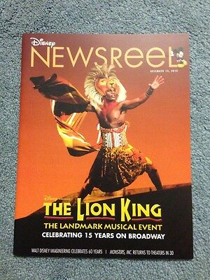 Disney Newsreel Magazine The Lion King Musical Switched Birth 12 14 12 New