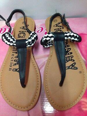 Women's Sandals Flat Gladiator Braided Strap Flip Flops Thong Sandals Size 6.5