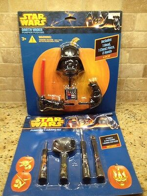 STAR WARS DARTH VADER PUMPKIN DECORATING PUSH-INS & CARVING KIT SET HALLOWEEN  ](Star Wars Pumpkin Carving)