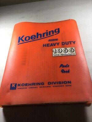 Bantam Koehring 1066 Parts Catalog Manual