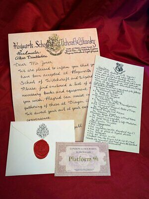 Hogwarts Acceptance Letter - Handwritten & Personalized - Harry Potter