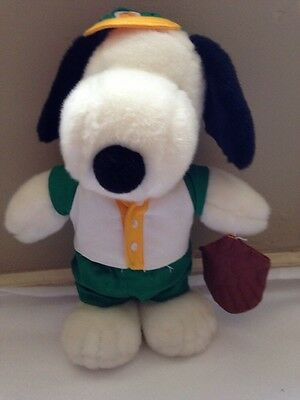 "Snoopy Plush Dog Stuffed Animal Toy 12"" Baseball Player/Uniform New"