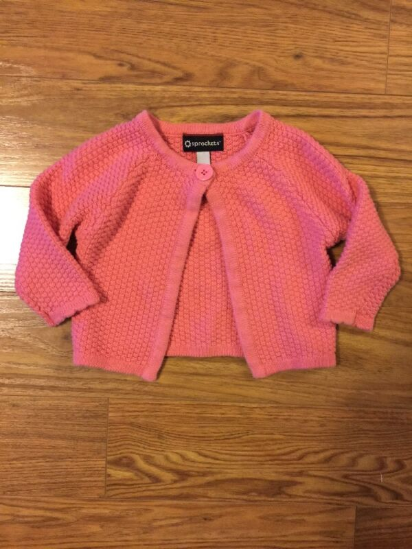 SPROCKETS Baby Sweater Pink Size 24 Months Cotton Spring Easter