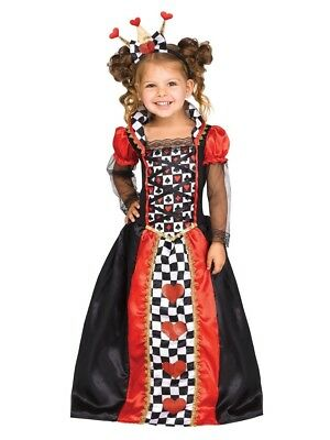 Alice in Wonderland - Queen Of Hearts Toddler Costume