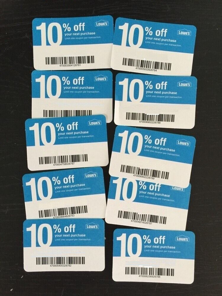 20X L0WES Card Coup0ns 10 OFF At Competitors Home Depot ONLY Ex 12/15/21 GIFT - $9.98