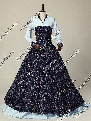 Civil War Victorian Prairie Maiden Dress Pioneer Women Halloween Costume N 128 - Victorian Halloween Costumes Women