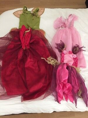 4 Fairy Pixie Dresses Costumes 4-8 Years Old Great Halloween