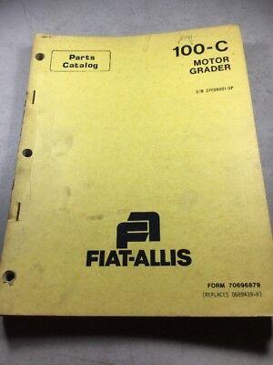 Fiat Allis 100-c Motor Grader Parts Catalog