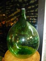 HUGE DEMIJOHN CARBOY Green Hand Blown Glass