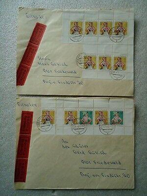 DDR aus MH 4 -2 Portogerechte Briefe mit super Bahnpoststempel Bilder im Angebot