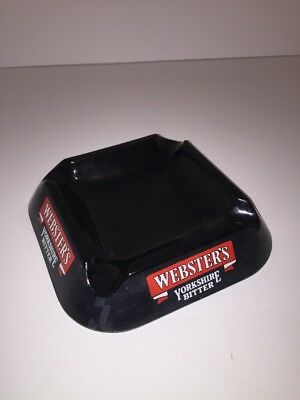 "Yorkshire Bitter - Webster's Yorkshire Bitter Ashtray 6.5"" X 6.5"" Black Plastic HCW"