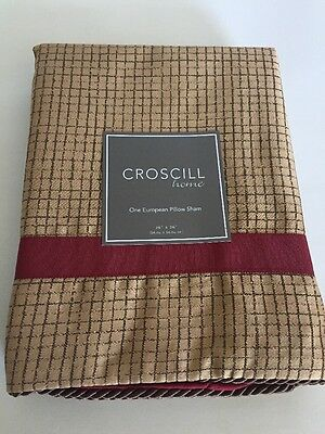 Croscill Pondera Cafe European Euro Pillow Shams 26x26 (matches comforter) 2 (Croscill Euro Comforter)