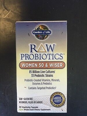 Garden Of Life Raw Probiotics Women 50 And Wiser 90 Vegetarian Caps 85 billion