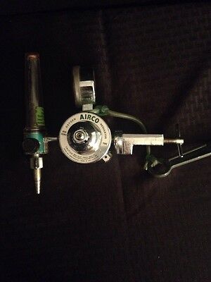 Airco Oxygen Gas Pressure Regulator Yoke Adapter Flowmeter 3000 Psi