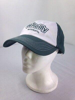 Oreilly Auto Parts Baseball Cap Green White Adjustable Velcro Back