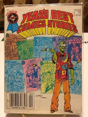 BEST OF DC BLUE RIBBON DIGEST #71, YEAR'S BEST COMICS STORIES PAPERBACK PB, 1986