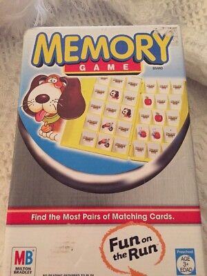 Memory Fun On The Run Game By Milton Bradley Matching Cards 2005 Ready to take