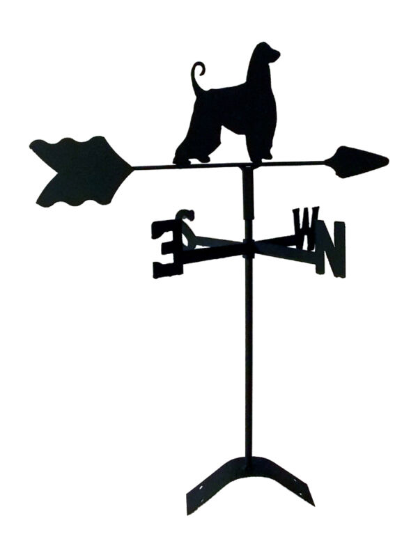 afghan hound roof mount weathervane black wrought iron look made in usaTLS1001RM