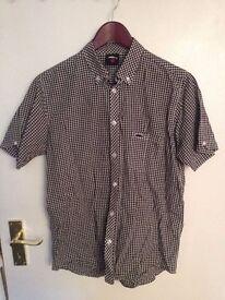 Men's Atticus Shirt, Size Small, Black And White Check Design