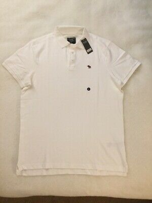 Abercrombie & Fitch Men pique stretch Polo shirt size XL, new with tags, (V620)