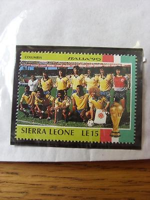 1990 World Cup Stamp: Sierra Leone - Columbia Team