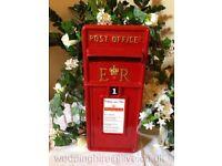 Royal Mail Genuine Post Box Wedding Birthdays Bar Mitzvahs