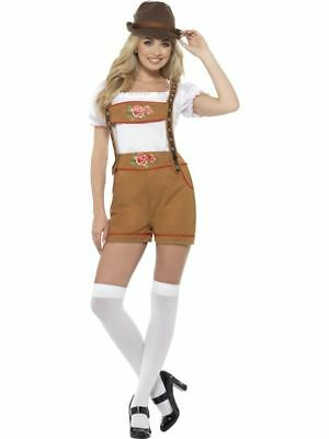Sexy Bavarian Beer Girl Costume, Oktoberfest Festival Fancy Dress, UK 4-6 #DE