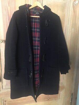A.P.C. Wool  Damen Duffle Coat Hooded Größe M Marineblau ()