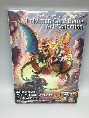 Pokemon Card Game Art collection Art Book with Original card Charizard, Glurak