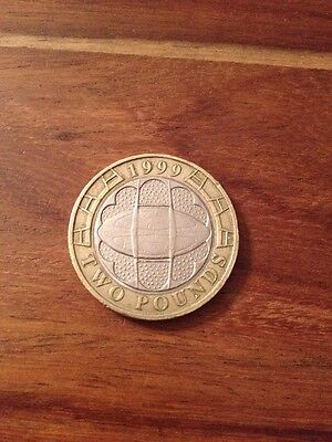 £2 Coin 1999 - Issued For The Rugby World Cup - Two Pound Coin