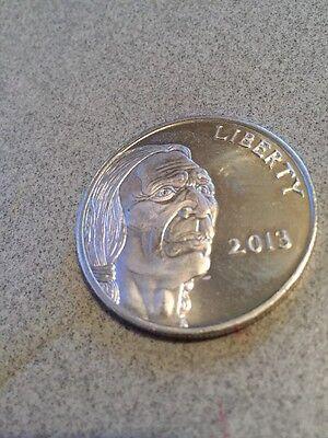 2013 Liberty Silver 1 Ounce 99.9 Fine Silver.