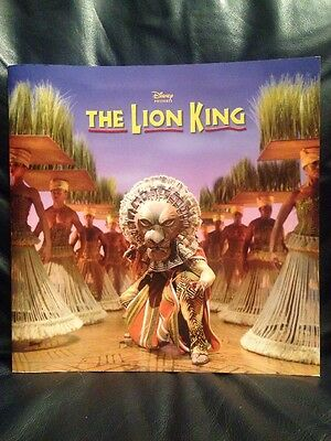 Disney The Lion King Broadway Play Musical Program Touring Play Theatre BIN MINT