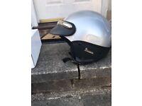 Open face Vespa helmet