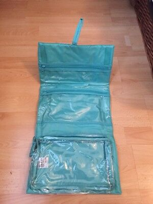 NEW JOHN LEWIS TOILETRY MAKE UP HOLIDAY BAG TRAVEL TURQUOIZE BLUE