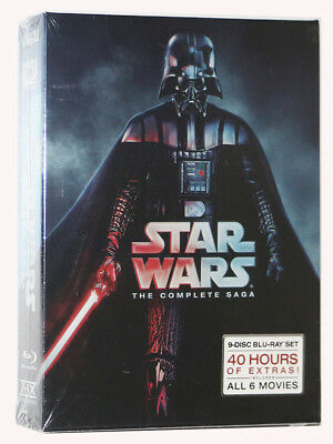 BRAND NEW Star Wars: The Complete Saga 1,2,3,4,5,6 (9 BLU-RAY Discs Box Set)