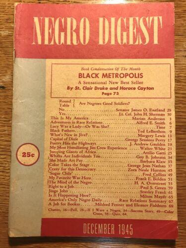 Vintage NEGRO DIGEST Magazine December 1945 Vol. IV No. 2
