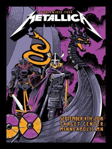 Metallica 9/4/2018 Poster Minneapolis MN Silkscreen Variant Signed by Artist