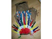 Indian chief fancy dress costume