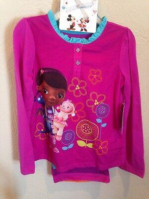 NEW Disney Doc McStuffin Pajama Set Soft Thick Pants! New Size 4 - Doc Mcstuffin Pjs