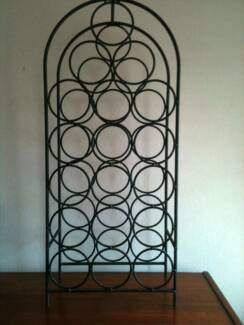 Wrought Iron Wine Rack 75cm French Provincial Style / 18 Bottles
