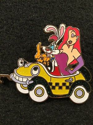 DISNEY PIN STORE LE 100 JESSICA RABBIT ROGER CAR PARADE GLITTER BENNY THE CAB