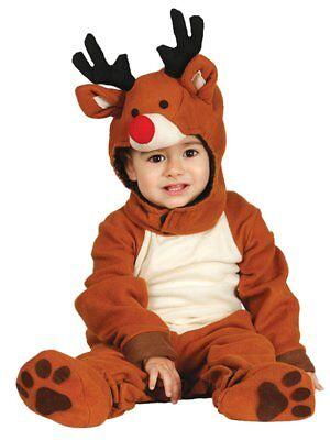 baby kostüm Weihnachten Kinderkostüm Tier Babykostüm 74-86 (Baby Rentier Kostüm)