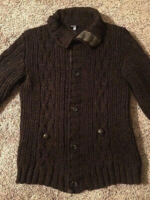 DOLCE & GABBANA D&G Runway Battalion Wool Cable Knit Jacket Coat M (50) $970