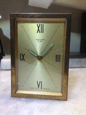 1950's Mid Century Duverdrey & Bloquel France Endura 8 Day Clock Movement Brass
