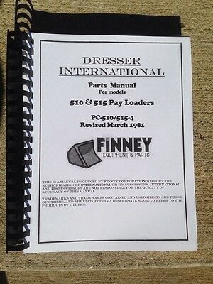 Dresser 510 515 Wheel Loader Parts Manual Catalog Book Pc-510515-4 Plain