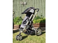 Quinny buzz travel system pushchair and accessories. Black and Grey