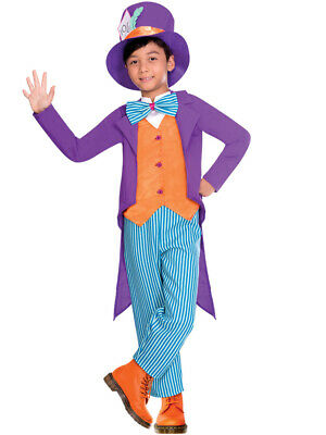 Childs Tea Party Mad Hatter Fancy Dress Costume - Childs Mad Hatter Kostüme